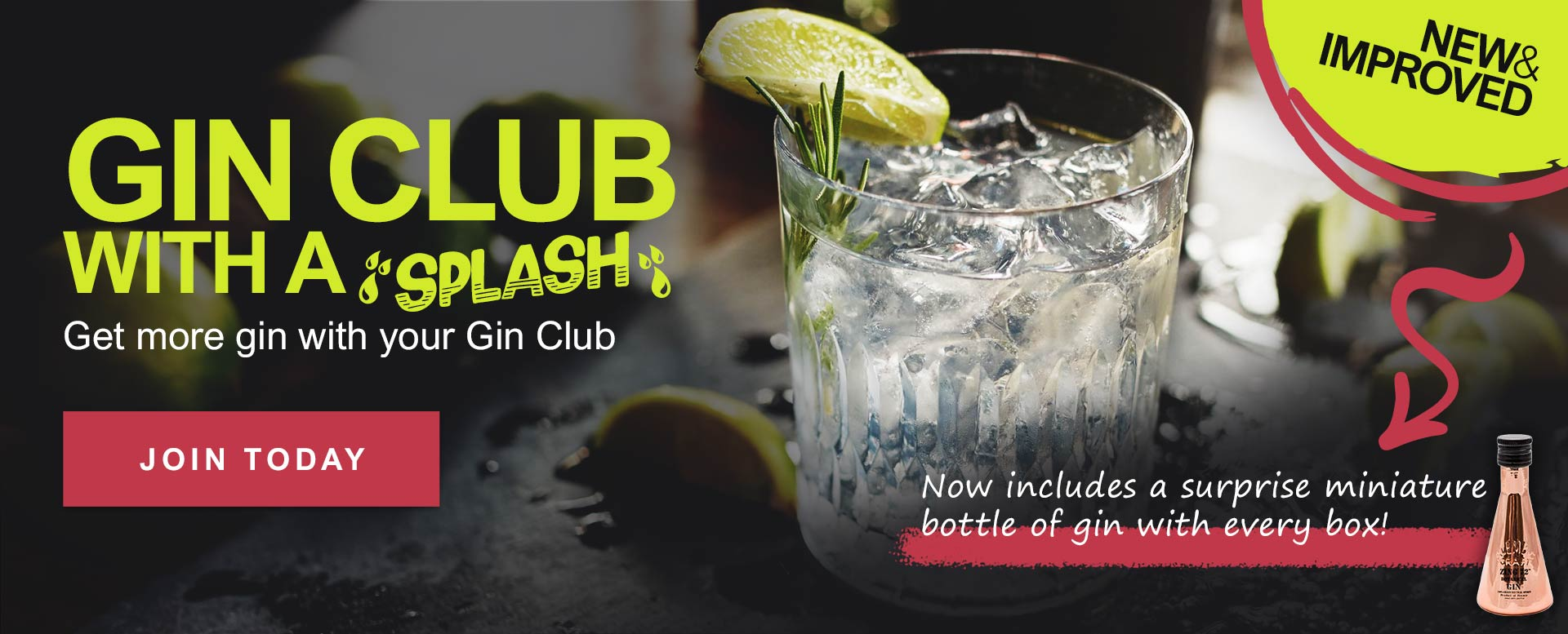 Join the Gin Club with a Splash today