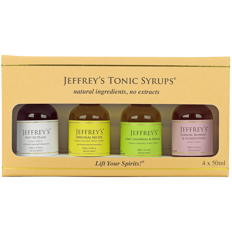 4 Jeffrey's Natural Tonic Syrups