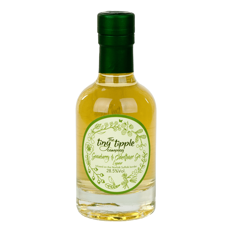 The Tiny Tipple Company Gooseberry & Elderflower Gin