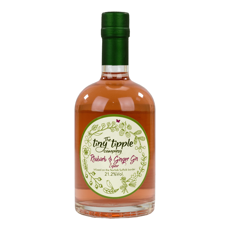 The Tiny Tipple Company Rhubarb & Ginger Gin Liqueur