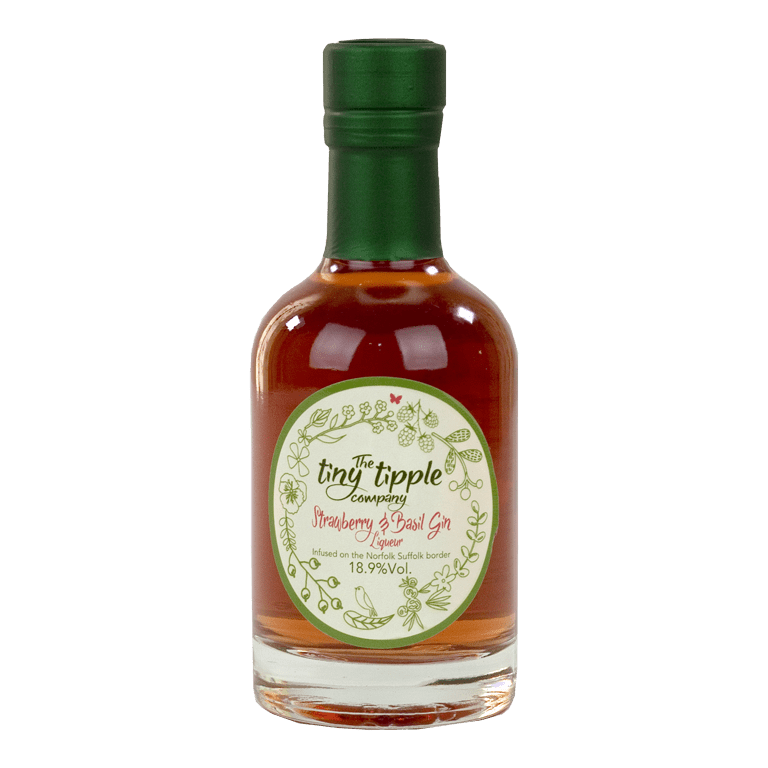The Tiny Tipple Company Strawberry & Basil Gin Liqueur